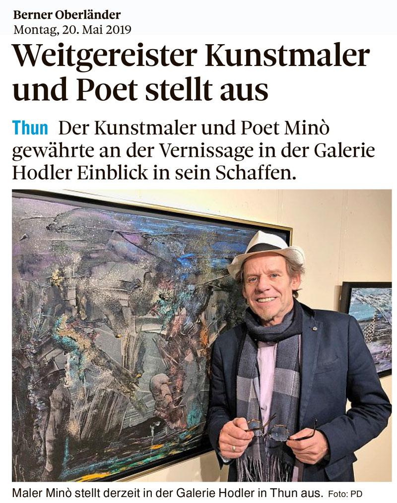 Weitgereister Kunstmaler und Poet stellt aus – Berner Oberländer