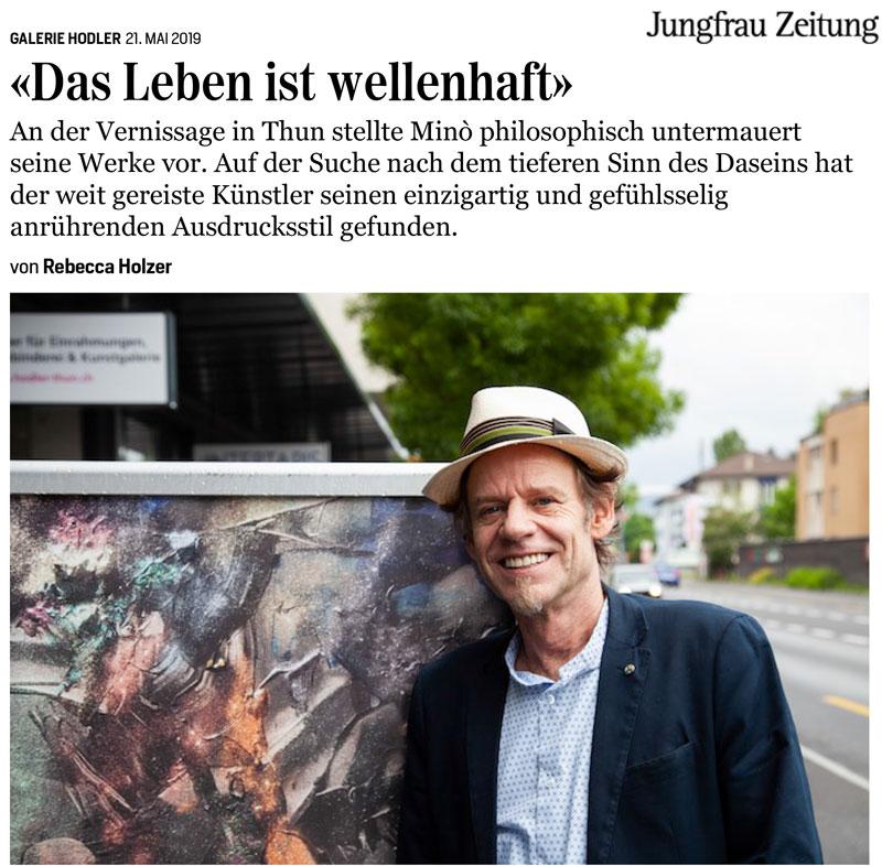 Das Leben ist wellenhaft – Jungfrau Zeitung